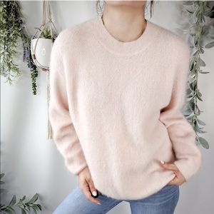 VINCE Sweater Blush Pink Knit Oversized Fit NWOT